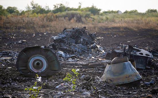 Место крушения малайзийского Boeing в Донбассе.19 июля 2014 года