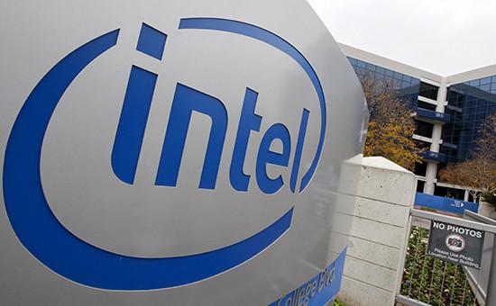 Логотип американской корпорации Intel Corp.