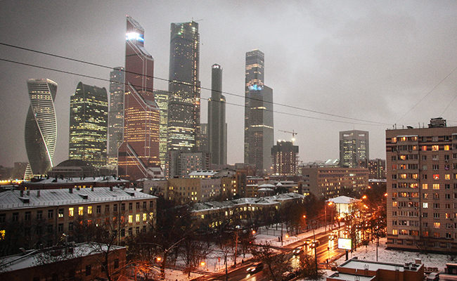 Вид наМосковский международный деловой центр «Москва-Сити»