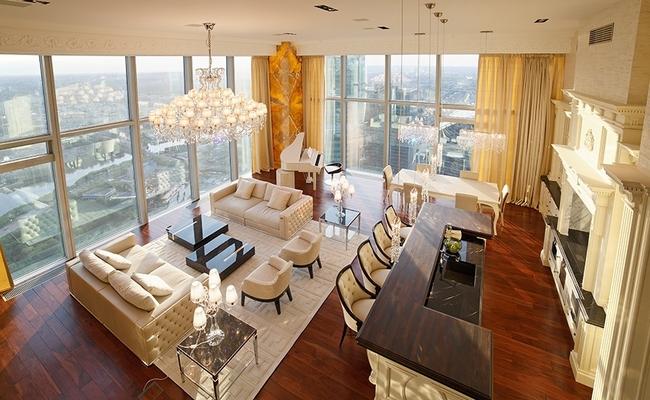 Пентхаус на 68-м этаже комплекса небоскребов «Город столиц»