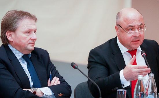 Бизнес-омбудсмен Борис Титов и уполномоченный по правам предпринимателей в Нижегородской области Павел Солодкий