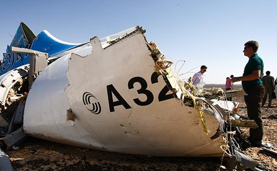 Место крушения российского самолета Airbus A321 вЕгипте