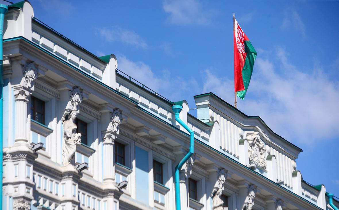 Вид на здание посольства Белоруссии в Москве