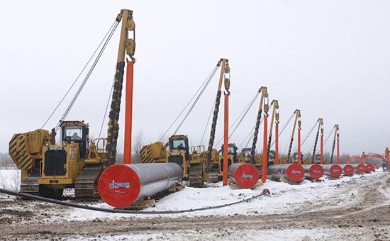 Трубы для магистрального газопровода Бованенково – Ухта. Декабрь 2008 года