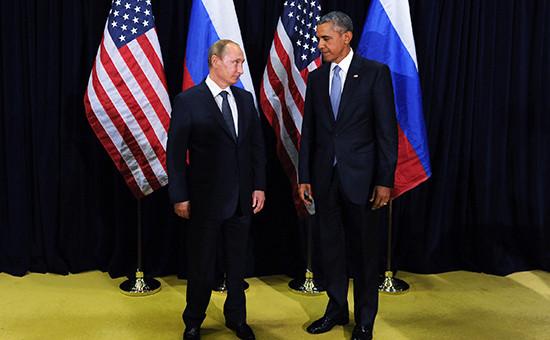 Президент России Владимир Путин ипрезидент США Барак Обама