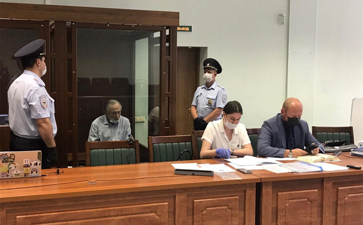 Олег Соколов на заседании Октябрьского районного суда
