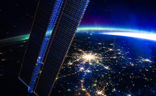 Вид Москвы с Международной космической станции