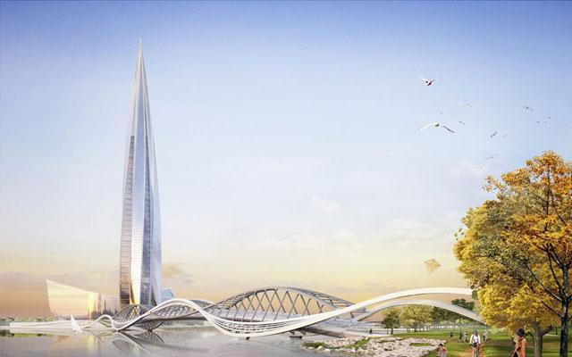Проект небоскреба «Лахта центр» вСанкт-Петербурге