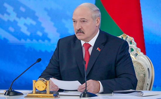 Президент Белоруссии Александр Лукашенко вовремя «Большого разговора спрезидентом». 3 февраля 2017 года