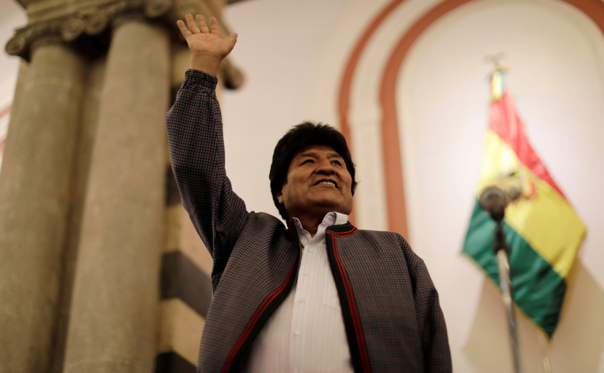 Действующий президент Боливии Эво Моралес