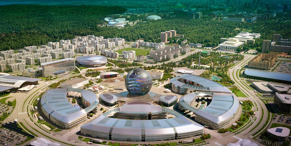 Выставочный центр Экспо-2017, рядом с которым построят апарт-отель Ye's