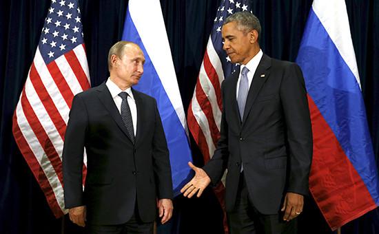 Президент России Владимир Путин ипрезидент США Барак Обама. Архивное фото