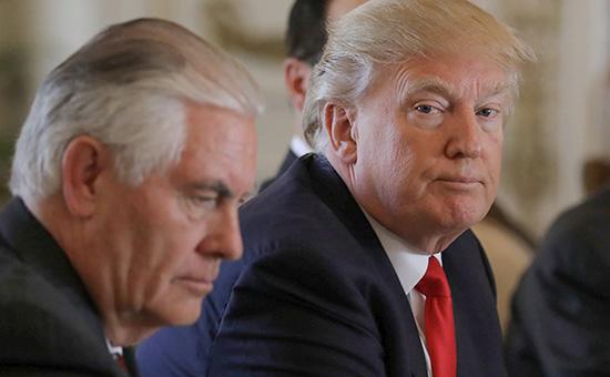 Рекс Тиллерсони Дональд Трамп (слева направо)