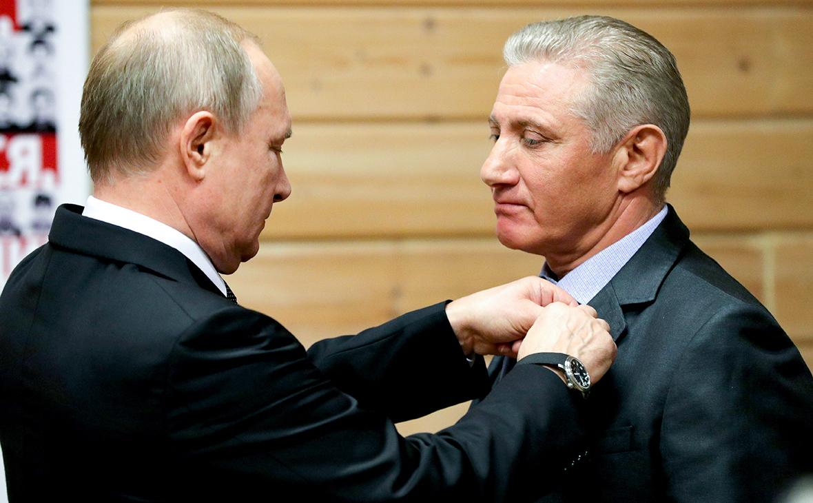 Владимир Путин и Борис Ротенберг