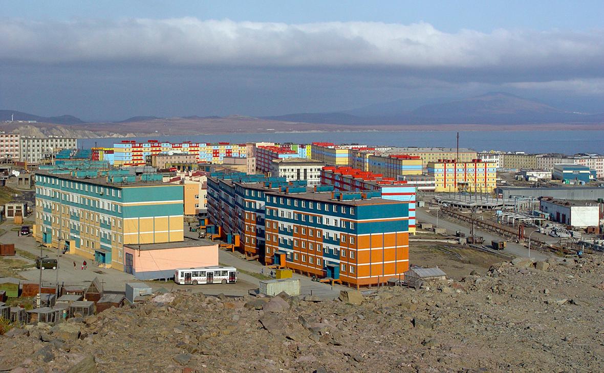 Вид на город Анадырь