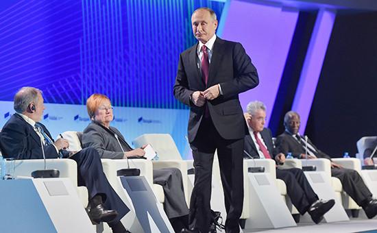 Президент России Владимир Путин на заседании Валдайского клуба