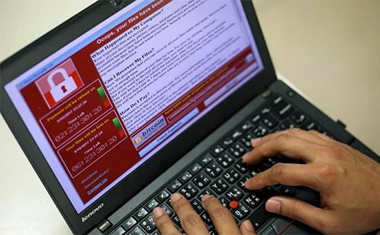 Компьютер, зараженный вирусом WannaCry