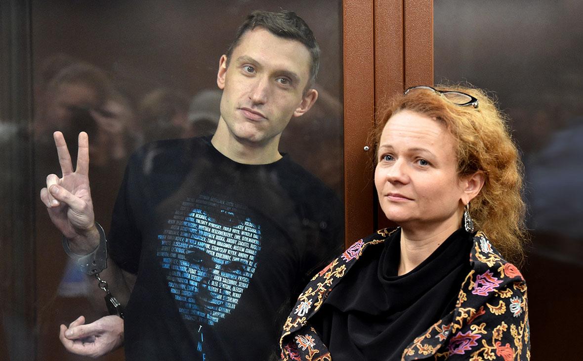 Константин Котов во время оглашения приговора в Тверском районном суде