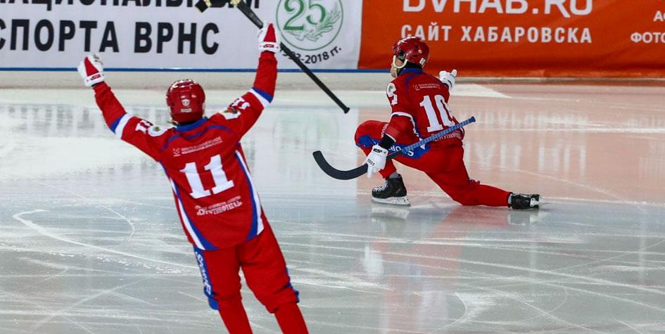 Россия стала 11-кратным чемпионом мира по хоккею с мячом