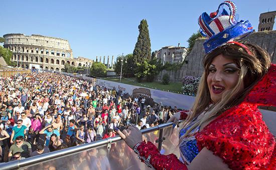 Гей-парад в Италии. Архивное фото