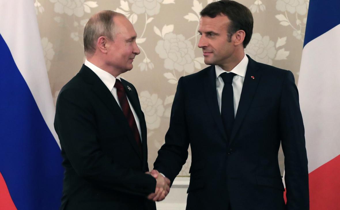 Макрон назвал дату и место встречи с Путиным в августе