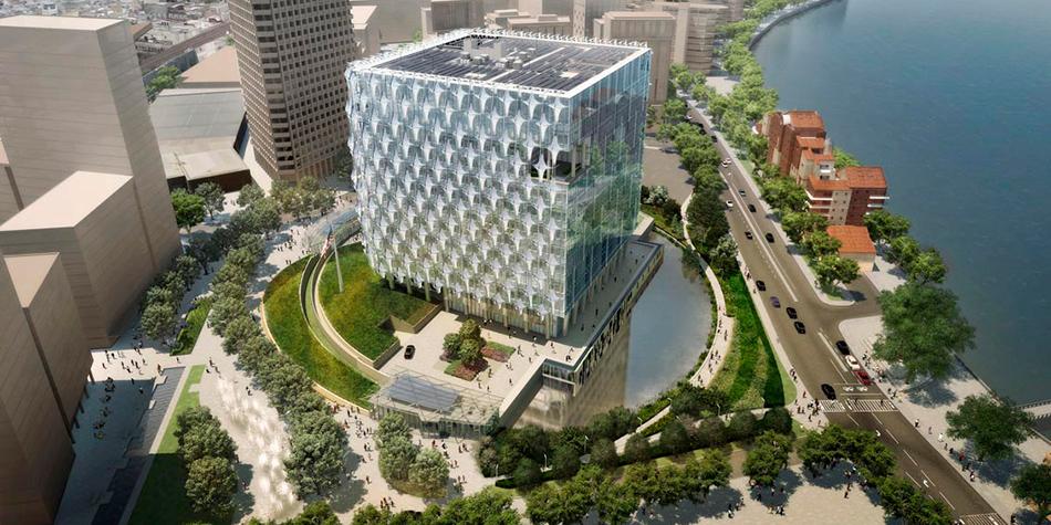 Проект комплекса посольства США в Лондоне