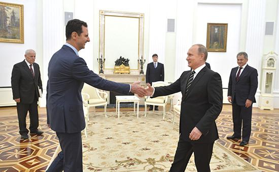 Президент Сирии Башар Асад ипрезидент России Владимир Путин. Архивное фото
