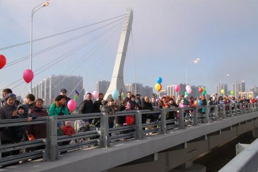 Церемония открытия моста через Дудергофский канал, 1 мая 2016 года