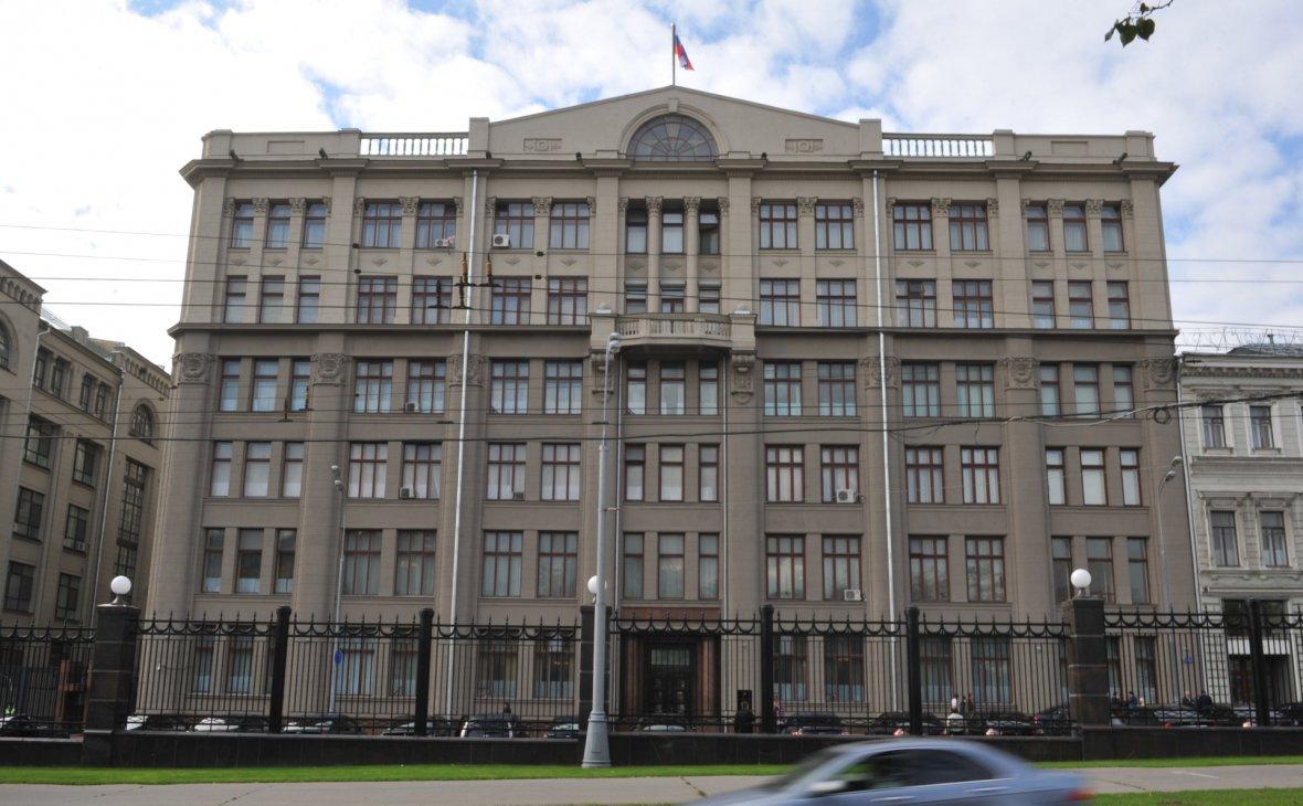Здание администрации президента России на Старой площади в Москве