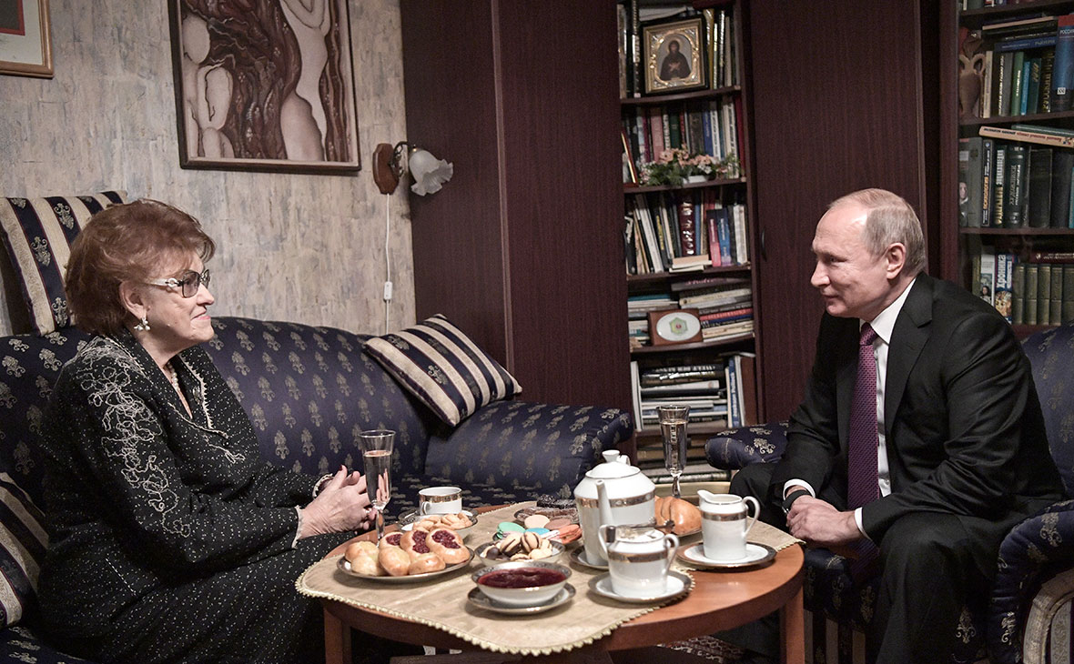 Людмила Вербицкая и Владимир Путин