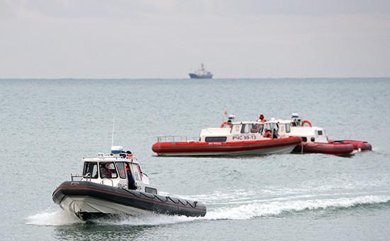 Спасатели вовремя поисково-спасательных работ у побережья Черного моря
