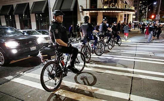 Сотрудники полиции вСиэтле, США