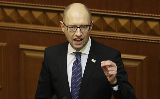 Глава правительства Арсений Яценюк