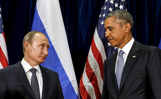 Президент России Владимир Путин ипрезидент США Барак Обама (слева направо)