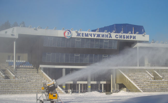 Стадион «Жемчужина Сибири» в Тюмени, на котором должен был пройти чемпионат мира по биатлону 2021 года
