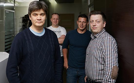 Марат Нигаметзянов, Дмитрий Останин,Тимур Каримбаев,Матвей Калачев (слева направо)