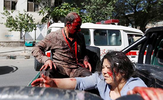 Пострадавшие послевзрыва вКабуле