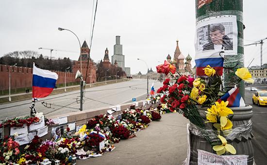 Большой Москворецкий мост, где был убит политик Борис Немцов