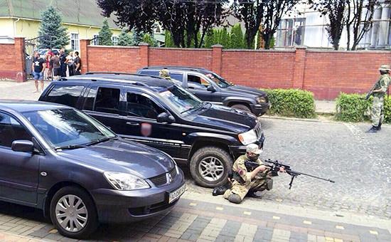 Бойцы «Правого сектора»в городеМукачево