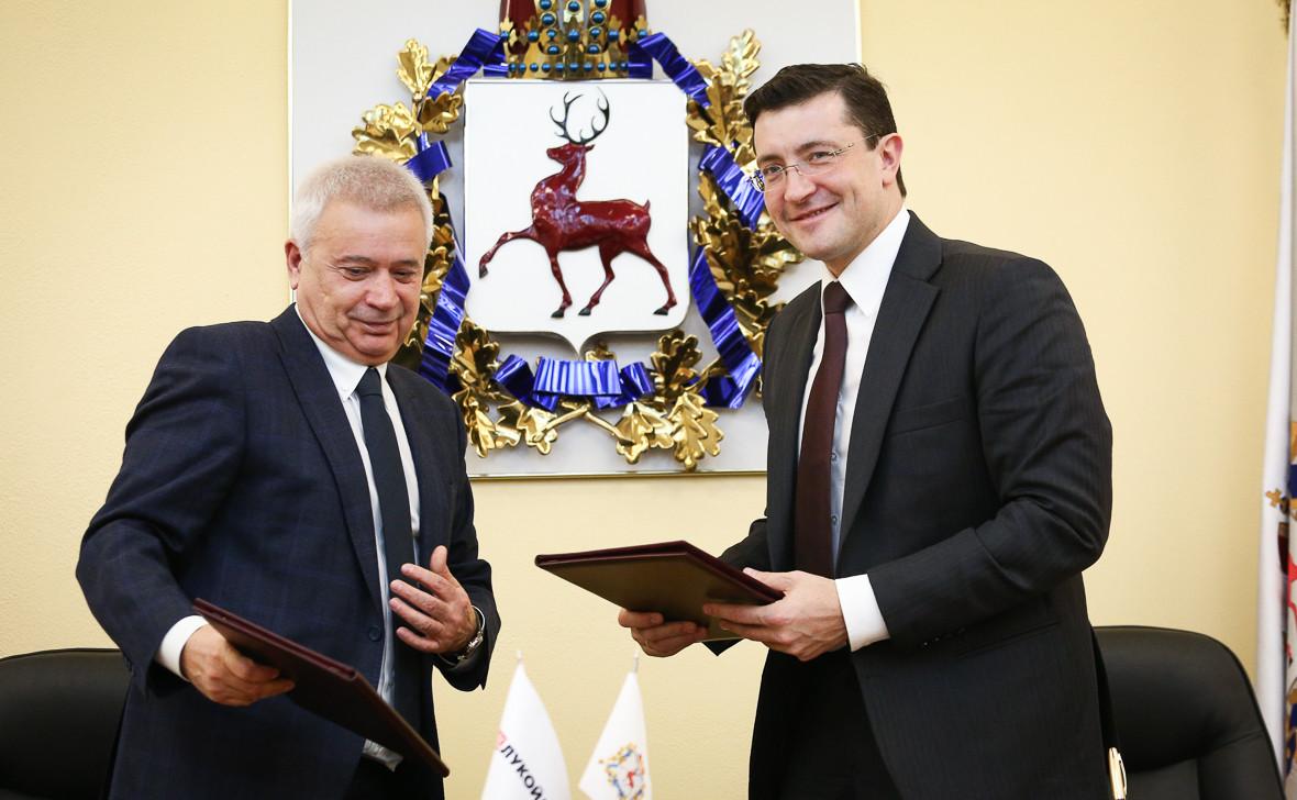 Вагит Алекперов и Глеб Никитин
