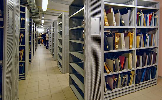 В хранилище Российского государственного исторического архива