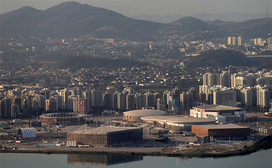 Вид на Олимпийский парк в Рио-де-Жанейро