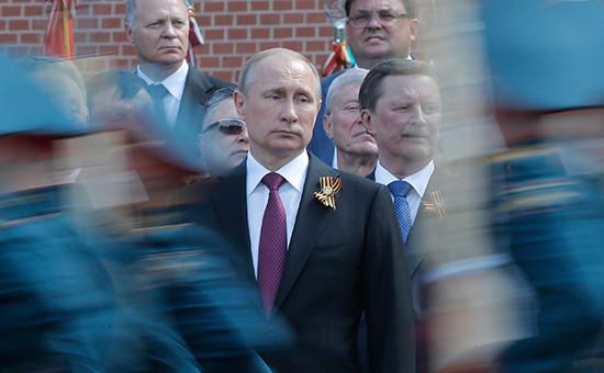 Президент России Владимир Путин вовремя военного парада, посвященного 71-й годовщине Победы вВеликой Отечественной войне