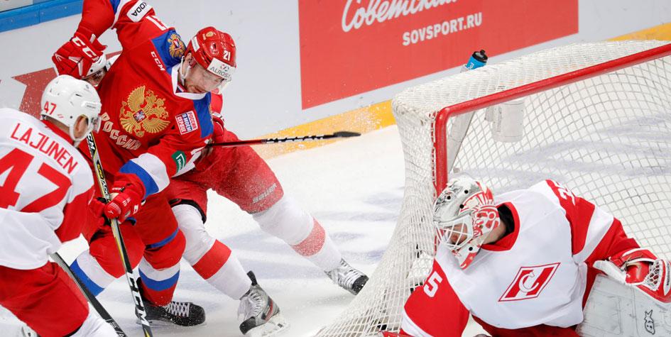 Российские хоккеисты в овертайме обыграли «Спартак» перед Олимпиадой