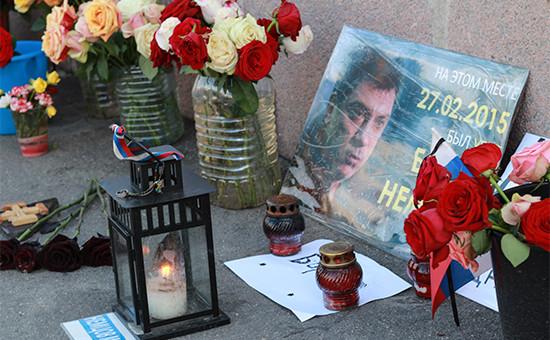 На месте убийства Бориса Немцова. 26 мая 2016 года