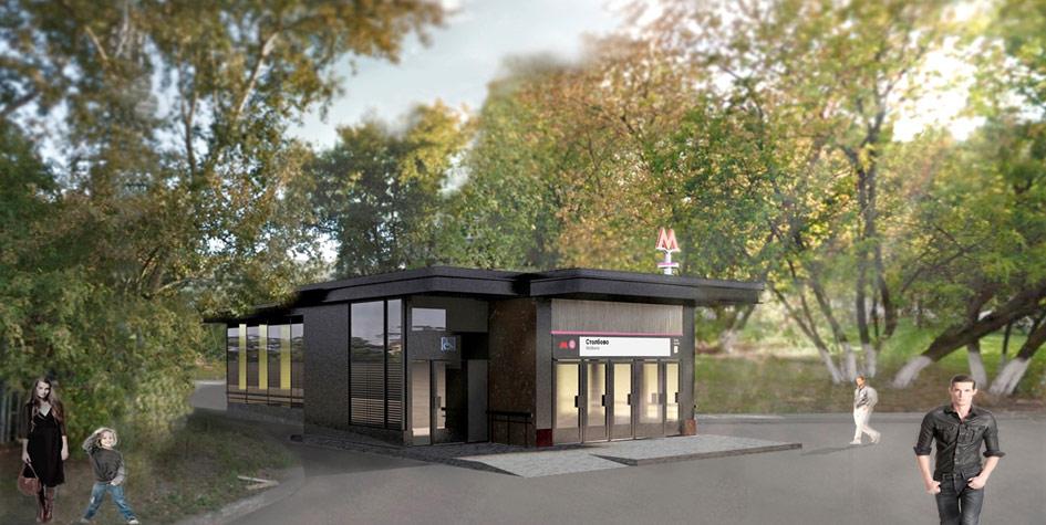 Проект станции метро «Столбово»