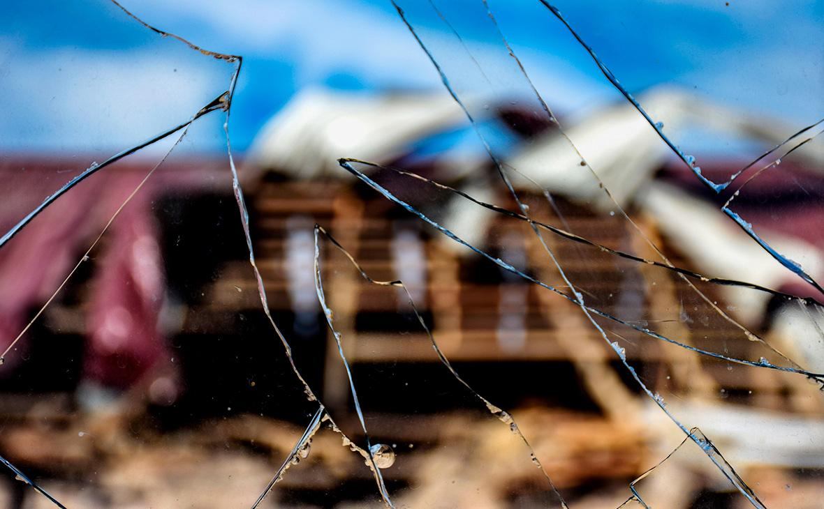 Последствия обстрела на азербайджано-армянской границе в селе Дондар Гушчу, Товузский район, Азербайджан