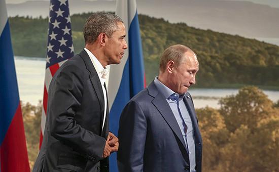 Президент РФ Владимир Путин ипрезидент США Барак Обама. Архивное фото