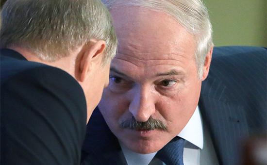 Президент России Владимир Путин и президент Белоруссии Александр Лукашенко (слева направо)
