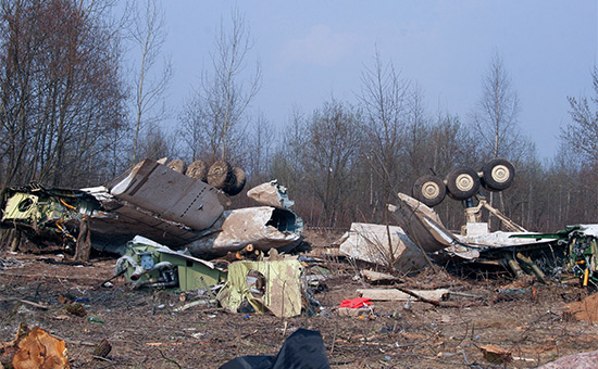 Обломки самолета Ту-154. 2010 год